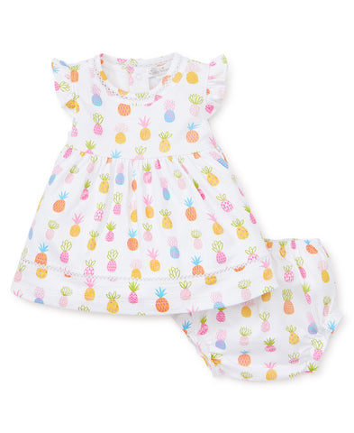 Kissy Kissy Dress Set in Pineapples (Infant) - Spring 2019