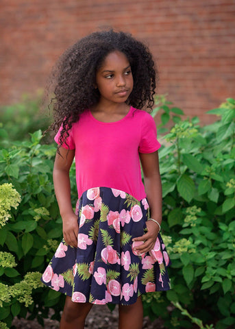 Pink Lemonade Stand Dress Mabel & Honey 384 - Spring 2020