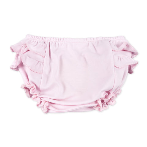 Diaper Cover - Magnolia Baby Essentials Pink w/ Pink Trim