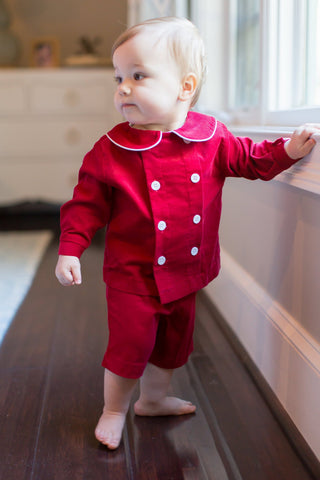The Red Corduroy Classic Collection Boys Dressy Short Set - Bailey Boys J Bailey Fall 2018