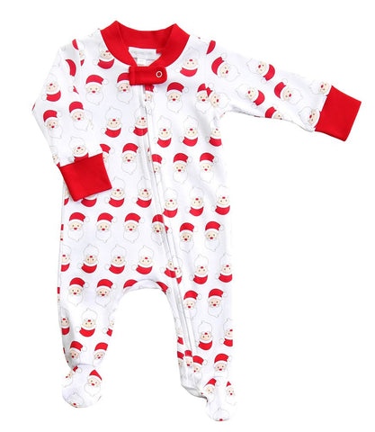 Santa Printed Zipped Footie  Infant- Magnolia Baby Fall 2019 587-22
