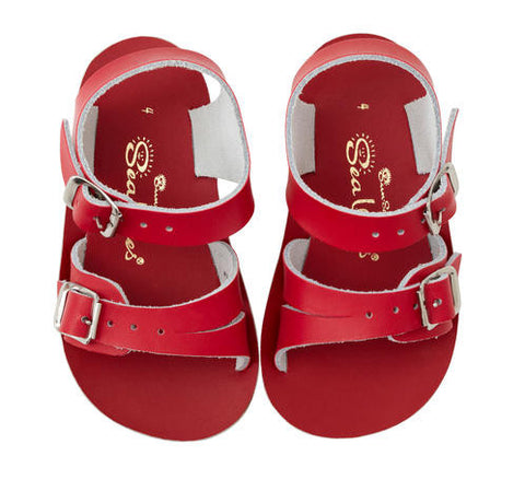 Sun San Sea Wee Salt Water Sandals - Red