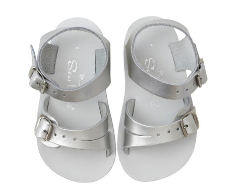 Sun San Sea Wee Salt Water Sandals - Silver