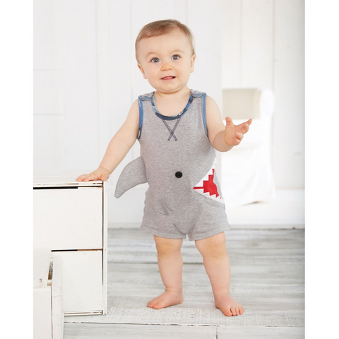 Shark Bite Shortall Romper - Mud Pie Spring 2018