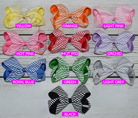 Stripe Color 6-inch Hair Bow