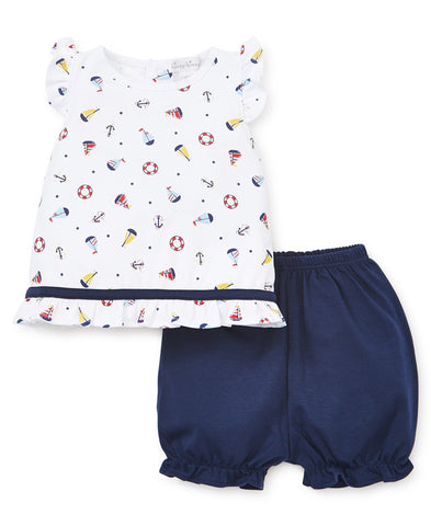 Kissy Kissy Sunsuit Set in Summer Sails - Spring 2019
