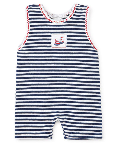 Kissy Kissy Sleeveless Terry Playsuit in Summer Sails