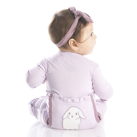 Thistle Lop Eared Bunny Classic Coverall w/ Snaps - Kickee Pants