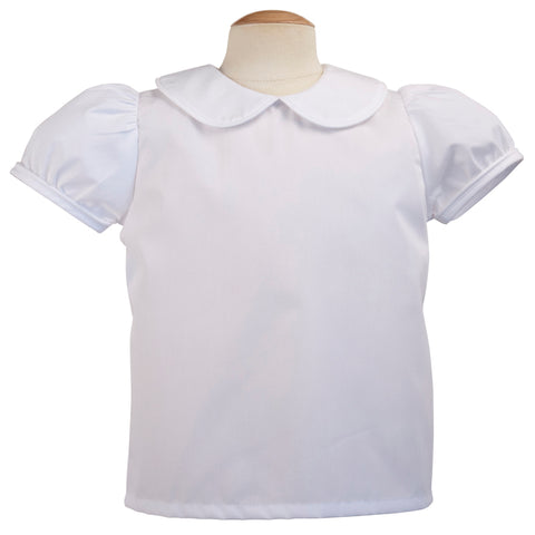 Piped Girls Short Sleeve Blouse - Remember Nguyen   117