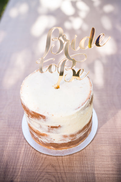 'Bride To Be' Cake Topper | Gold | 1 available