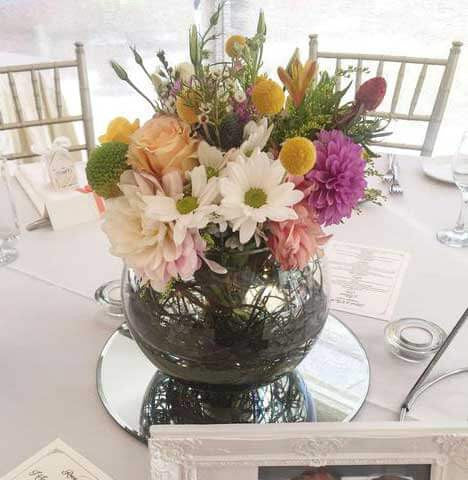 Glass Fish Bowl Vases Prop Hire My Little Peony
