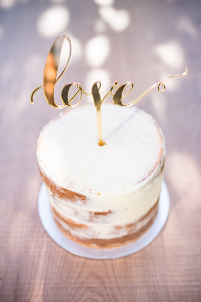 'LOVE' Cake Topper | Gold | 1 available