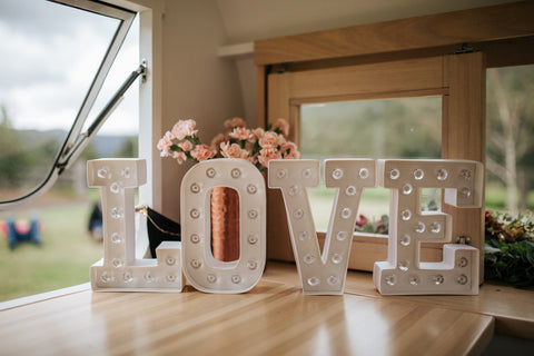 'LOVE' marquee light sign | 1 available