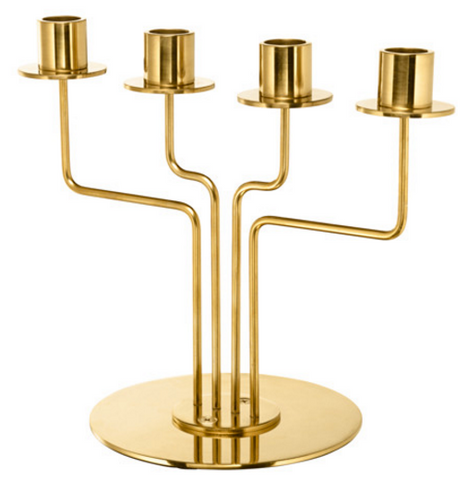 Gold Candelabra 4 candles
