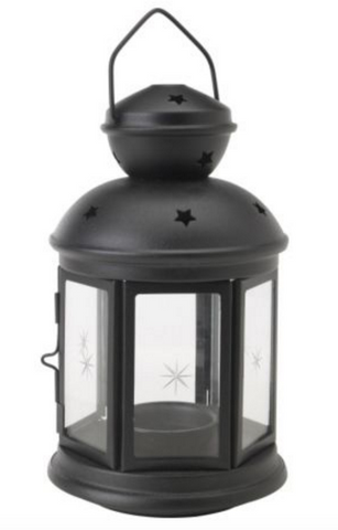 Black tea light start lantern