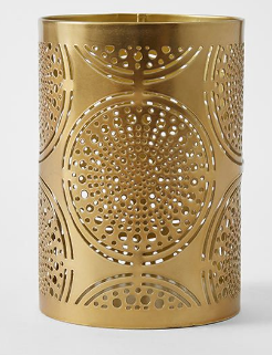 Gold Decorative Cut Lantern