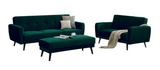 4 Seater Forest Green Velvet Lounge