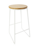 Timber Top Industrial Style Bar Stools