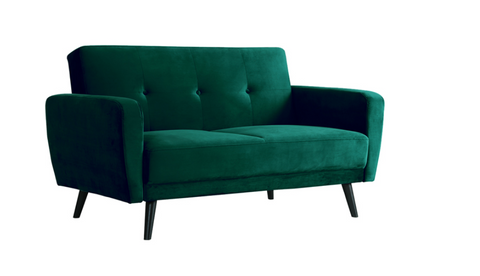 2 Seater Forest Green Velvet Lounge