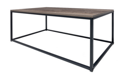 Timber Top Industrial Look Coffee Table
