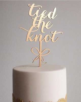'Tied The Knot' Cake Topper | 1 available