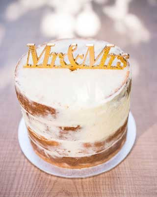'MR & MRS' (Gold Glitter) Cake Topper | 1 available