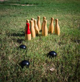 Timber ten pin bowling | 1 available