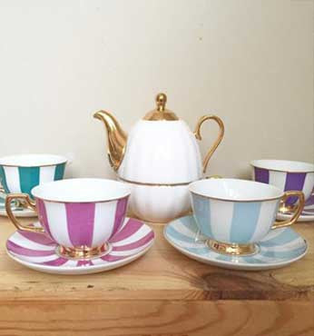 Tea Cups & Saucers | Assorted Collection