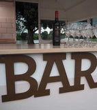 Timber 'BAR' sign | Large
