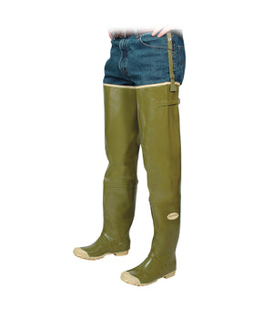 Acton Brook Hip Waders, Olive Green