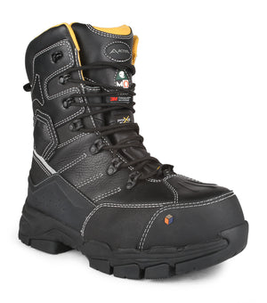 Acton Cannonball Work Boots, Black