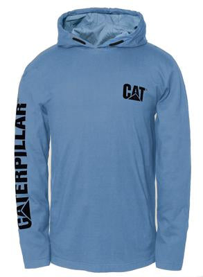 CAT UPF Hooded Banner Long Sleeve Tee