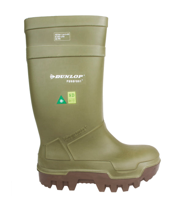 Dunlop Purofort Thermo+Full Safety Boot Green