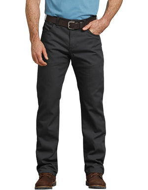 Dickies Men's Duck 5-Pocket Pants, Stonewashed Black