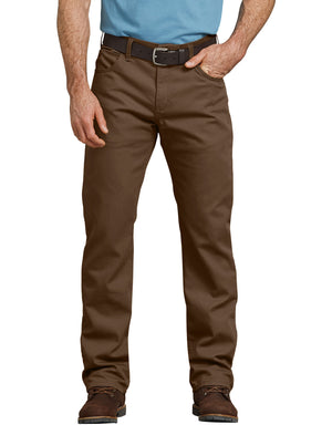 Dickies Men's Duck 5 Pocket Pants, Stonewashed Timber