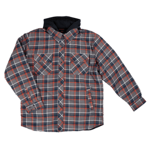 Fooler Front Quilt Lined Flannel Hooded Shirt