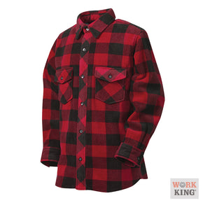 Work King Plaid Solar Fleece Shirt