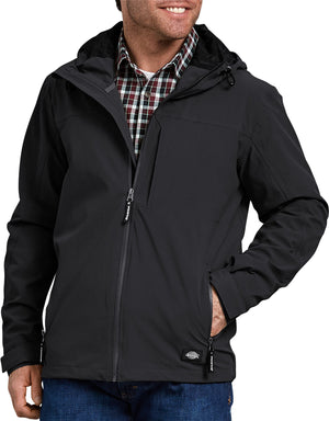 Dickies Waterproof Breathable Jacket with Hood, Black