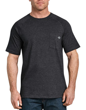 Dickies Short Sleeve Performance Cooling Tee, Black Heather
