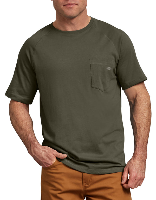 Dickies Short Sleeve Performance Cooling Tee, Moss Green