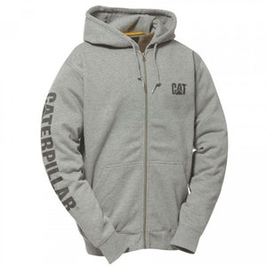 CAT Full Zip Hooded Sweatshirt Heather Grey