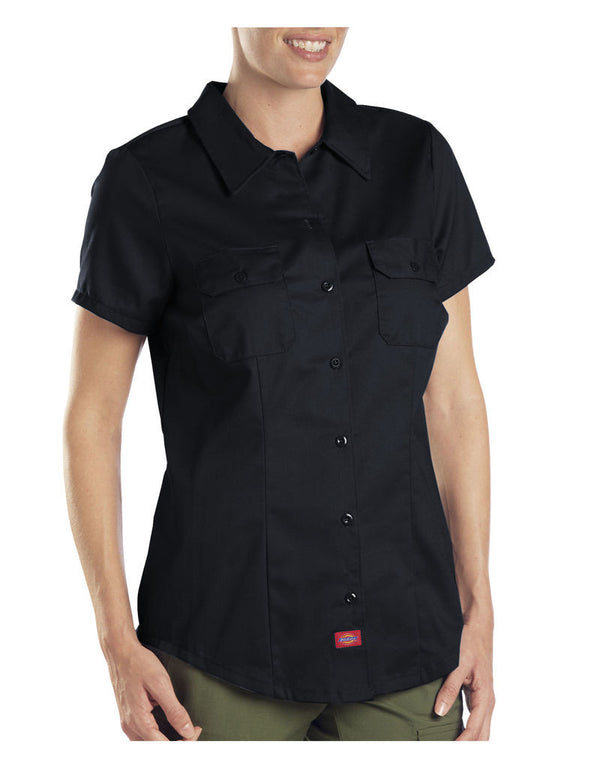 Dickies Short Sleeve Work Shirt Black Large