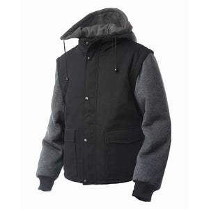 Tough Duck Zip-Off Sleeve Jacket Black