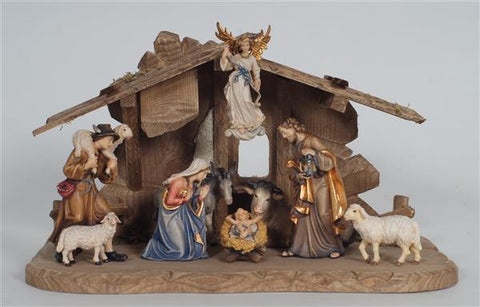 10 Piece Kostner Nativity Set with Tyrol Stable