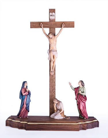 Crucifixion Scene - Passion Woodcarving