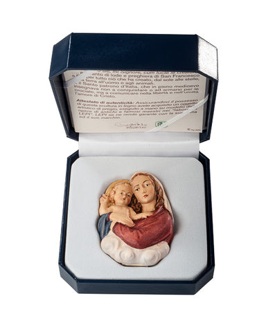 Mary with Child Standing Relief - Miniature Woodcarving by LEPI