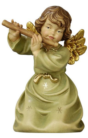 Bell Angel - Kneeling with Flute - Original Glockenengel by PEMA