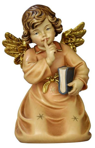 Bell Angel - Kneeling with Book - Original Glockenengel by PEMA