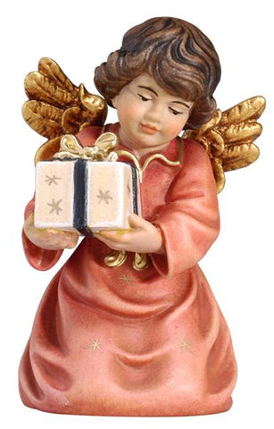 Bell Angel - Kneeling with Parcel - Original Glockenengel by PEMA