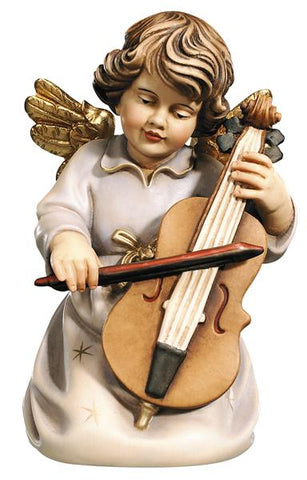 Bell Angel - Kneeling with Double Bass - Original Glockenengel by PEMA